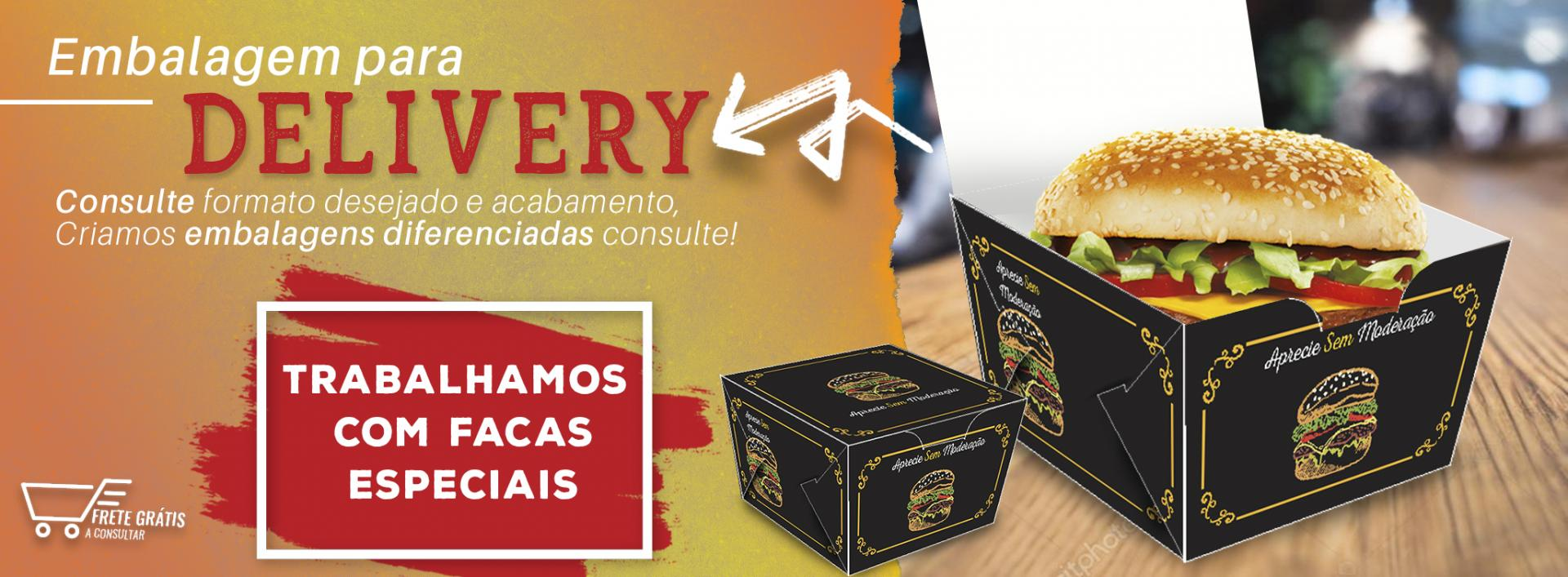 [Embalagem para Delivery - Lanches]